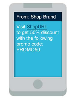 clickSUMO SMS Use Case: Shopping & Promotions
