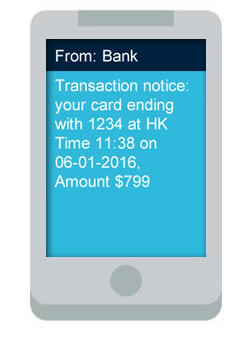 clickSUMO SMS Use Case: Bank Transactions